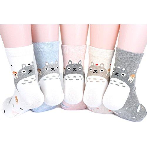 Totoro Friends Women's Socks 5pairs(5color)=1pack Made in Korea