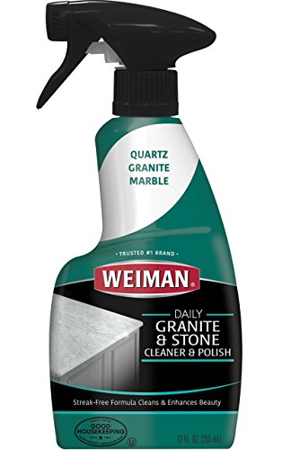 Weiman Granit Reiniger & Polish–Tägliche Anwendung, streifenfreie Formel für Theken, Marmor,...