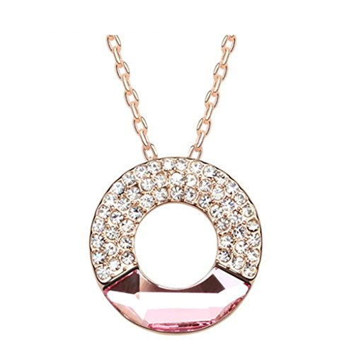 daesar-gold-plated-necklaces-round-rhinestone-pendant-necklace-for-women