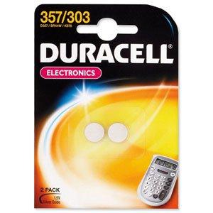DURACELL 357/303 LOT DE 2 BLISTER = 4 PILES SILVER OXIDE 1,5V