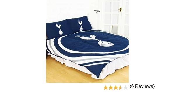 Officiel Housse de Couette Double Set r/éversible Tottenham Hotspur F.C