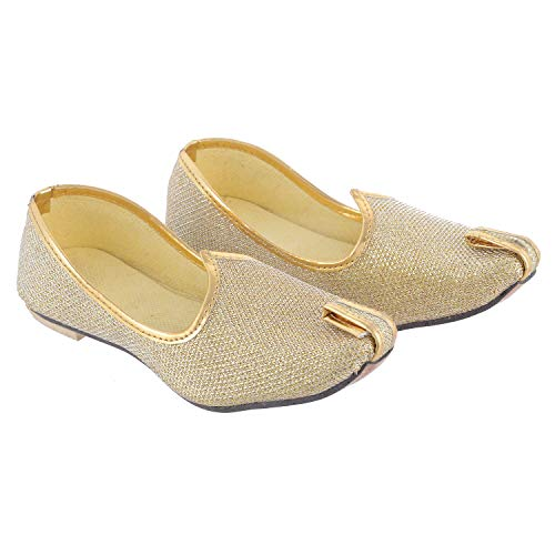 Little Palz Shimmer Design Mojris (Lpmj016_5-6yr, Gold, 5-6 Years)