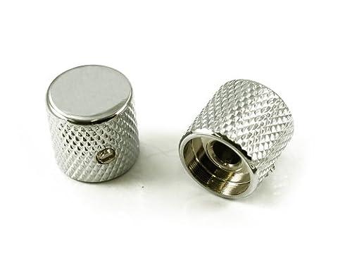 TELE Bouton de plaque d'aluminium–Chrome–1/4dans. trou [Lot de 2]