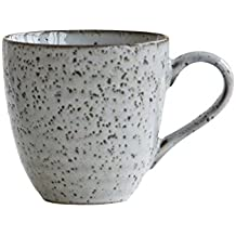 House Doctor - Becher, Henkelbecher, Tasse - Rustic - grau/braun - Keramik - Handmade Ø 4,8 cm Höhe 9 cm