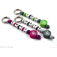 Schlüsselanhänger mit Gravur bzw Namen - Taschenbaumler - Notenschlüssel - Schlüsselring - GRATIS Versand - verschiedene Farben - Musik - Note - Schlüsselband