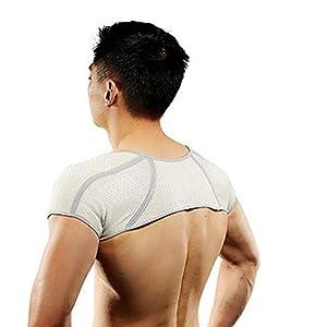 TIREOW Bambuskohle Warmer Schulterstütze Schulterschutz Selbsterhitzender Sport Schulterschutz Schulterpolster Schulterband Schulter Heizband Stützrückenverband Für Männer Frauen