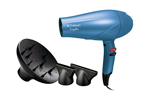 Gama Italy Professional Leggerio Ion 4D Therapy - Secador de pelo, 2400 W de potencia