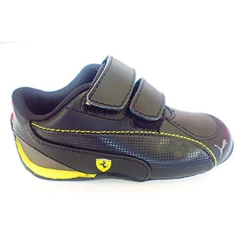 Puma D Cat 5SF bebé/Niños Guantes, Negro Scuderia Ferrari piel Zapatillas gr; euros 23