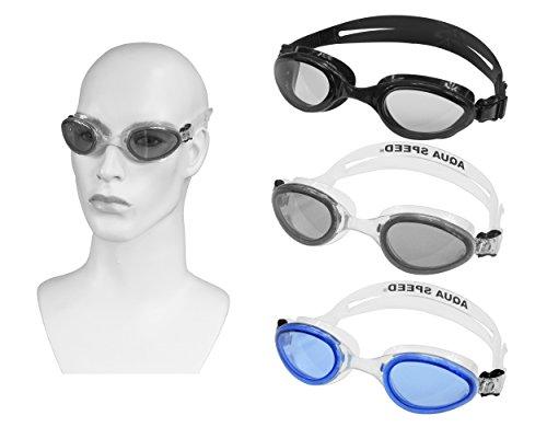 Aqua Speed Sonic Lunettes de natation (LSR, 100% UVA UVB, cadre doux Easyfix) Dunkelgrau / getönt