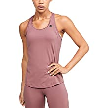 Under Armour Women's Breathable Workout Tank Top with Rush Technology, Sleeveless Gym Clothes with Tight Fit, Hushed Pink / / Black (662), XS