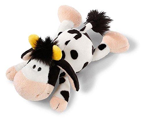 Nici 36833 - Kuh - liegend Plüschtier, 30 cm Kuh Stofftier Klein