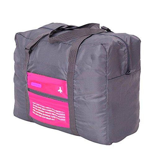 Gleading Capacità Grande Impermeabile Pieghevole Portatile di Viaggio Borsa da Viaggio Trolley Borsa Bagagli Vestiti Deposito Bagaglio a Mano-Rose