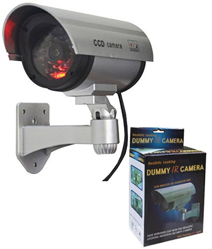 Novicz Dummy Security CCTV Fake Bullet Camera With LED Light Indication,Silver  available at amazon for Rs.290