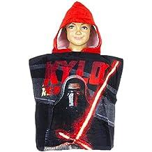 Capa de baño con capucha niño Star Wars negro/rojo tu (2–6años), 100% algodón, negro/rojo, talla única