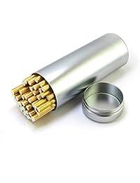 NACHEN Caja De Cigarrillo Gran Capacidad Cinturón De Metal Delantal Sellado Impermeable Portátil Señoras Cigarrillos Al Aire Libre,Silver,118X45MM