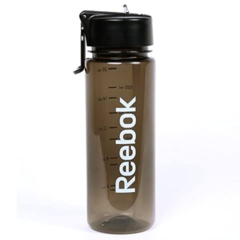 Reebok BPA-Free Water Bottle, Black, 650 ml