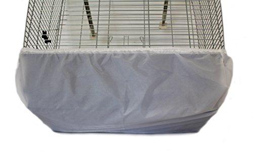 Cosipet Rectangular Jaula Organizador, Extragrande, Color Blanco