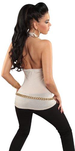 Sexy collo-camicia della parte superiore V-Neck Backless One Size 38,40,42 diversi colori Beige