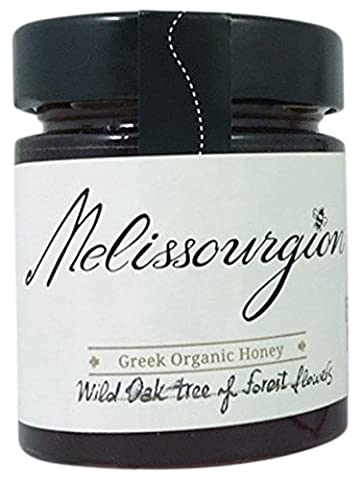 Melissourgion Greek Organic Wild Oak Tree and Forest Flowers Raw Honey, 200 g