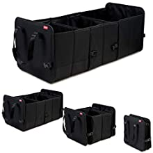 achilles Vario-Box Foldable car organizer trunk basket adjustable size with velcro closure on the bottom large foldable trunk basket black 72x33x30cm