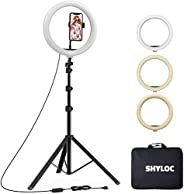 SHYLOC 18 Inches Big LED Ring Light for Photo and Video with Tripod Stand Compatible with Camera and Smartphon