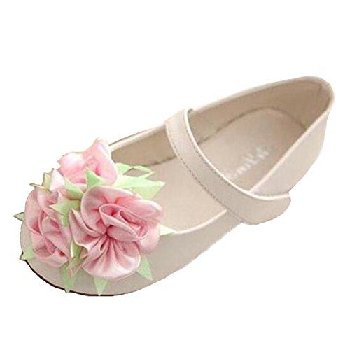 Ohmais Enfants Filles Chaussure cérémonie Ballerines à bride Fête Demoiselle d'honneur Mariage Escarpin à petit talon Vert