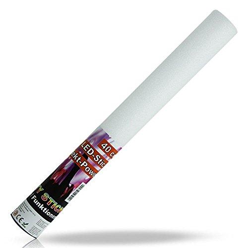 12 x LED Schaumstoff Leuchtstäbe – Weiß – 24 cm