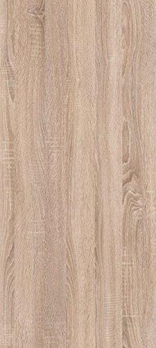 trendteam AR Wohnwand Wohnkombination Anbauwand | Weiß | Eiche Sägerau Hell | 425 x 199 cm | Inkl. LED Beleuchtung - 11