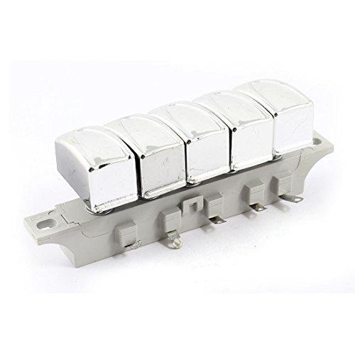 Sourcingmap - Ventilatore da tavolo elettrico 5 posizione dell'interruttore pulsante di blocco pulsante 250v ac 1a