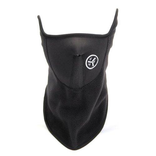 Maschera Sottocasco Antivento per Moto Ciclismo Bicicletta Nero Nuovo
