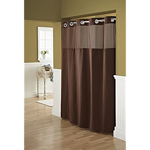 Hookless Fabric Shower Curtain With Built In