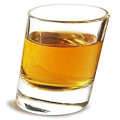 Idea Regalo - Pisa bicchierini 51gram/50ml–Confezione da 6| 5cl bicchierini, bicchierini angolati, inclinati shot GLASSES