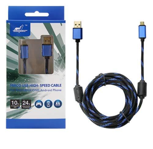 PS4 Micro USB Kabel 3m Schnelllader 24K Vergoldet XBOX ANDROID Handy PREMIUM TOP (Micro-usb-kabel 3m)