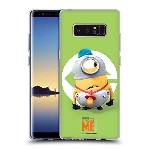 Head Case Designs Offizielle Despicable Me Stuart Baby Kostuem Minions Soft Gel Huelle kompatibel mit Samsung Galaxy Note8 / Note 8