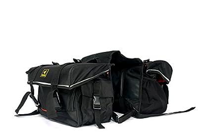 Raida G-Series Motorbike Saddle Bag with Rain Cover ( Black)