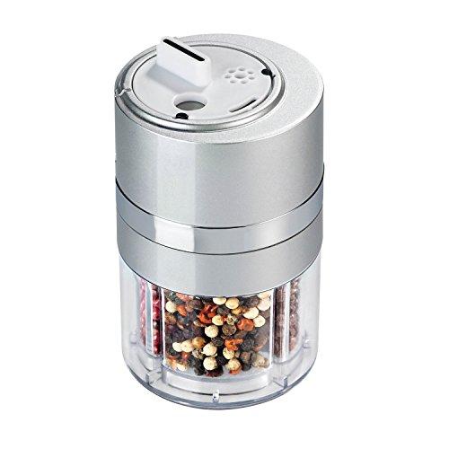 Zevro - Dispensador de especias (plástico, tamaño pequeño, con rueda giratoria)