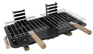benross gardenkraft 19710 gril hibachi deux grilles pour barbecue avec bac cendres amazon. Black Bedroom Furniture Sets. Home Design Ideas