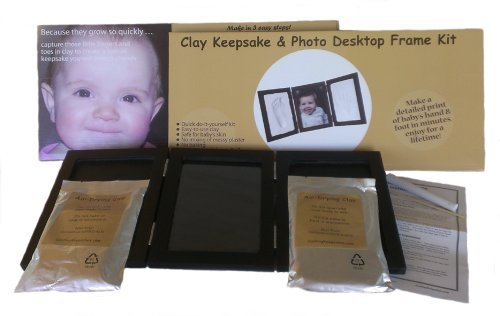 Casting Keepsakes Casting Keepsakes Clay Handprint & Footprint Keepsake Photo Desktop Frame Black