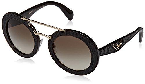 Prada Damen 0PR15SS 2AU4M1 53 Sonnenbrille, Braun (Havana/Green),