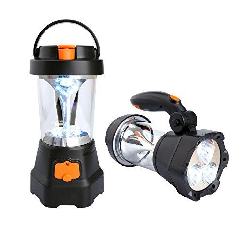 COOWOO LED Strahler Laterne Handscheinwerfer mit USB Anschluss und Kurbel Mechanismus für Camping Lampe, Garten Leuchte, Outdoor, Zelt und Notfall Beleuchtung