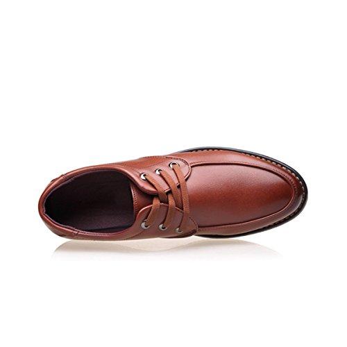 Lyzgf Le Printemps Et Lestate Jeunes Hommes Mode Ronde Chaussures Sauvage Chaussures À Lacets Occasionnels Brun