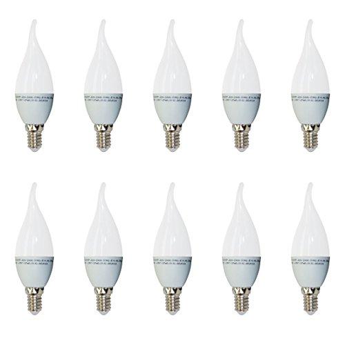 Pack de 10 - 4164 - V-TAC - Bombilla LED Vela con punta curvada - Casq