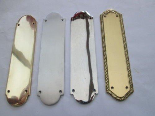 Preisvergleich Produktbild Ironmongery World® Heavy Duty stabile Aluminiumguss Messing Regency Finger Teller Tür Push Teller New (poliert chrom Victorian)