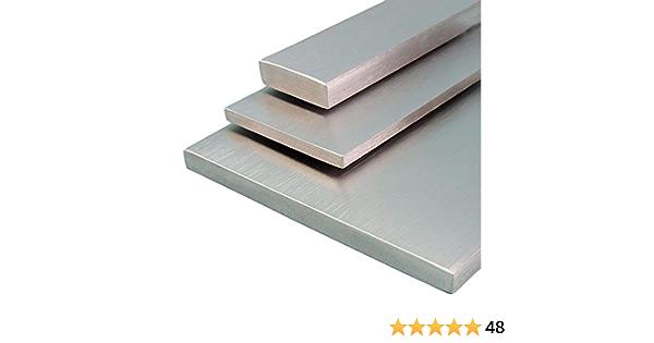 B/&T Metall Edelstahl Flachstahl roh gewalzt L/änge ca Bandstahl 1.4301 V2A 1,0 m Ma/ße 50 x 5 mm