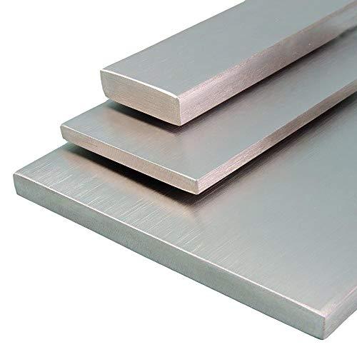V2A Edelstahl Flachstahl Oberfläche geschliffen, Korn 240 Länge 1500 mm Abmessungen 40 x 5 mm