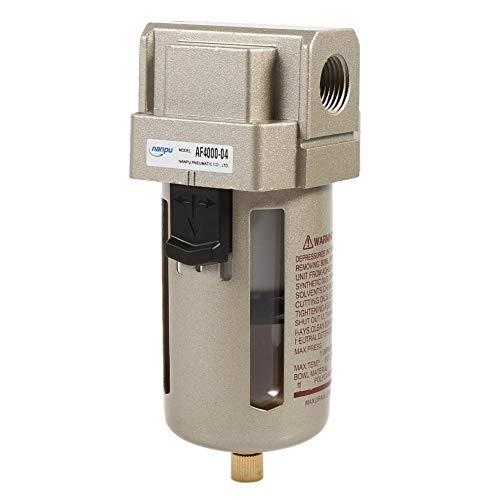 Zerodis Filtro de Aire Comprimido Regulador del Separador de Trampa de Humedad de Agua del compresor del Filtro de Aire de 1/2