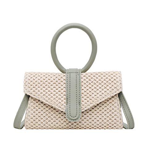 Mitlfuny handbemalte Ledertasche, Schultertasche, Geschenk, Handgefertigte Tasche,Mode Frauen Retro Weave Handle Bag Messenger Bags Umhängetasche Umhängetasche -
