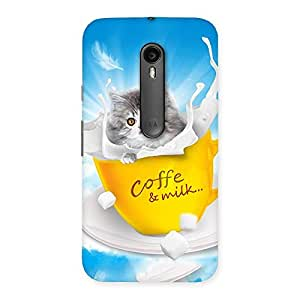 Coffee Kitty Back Case Cover for Moto G3