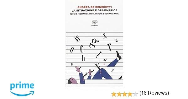 aae181eb9ac448 Amazon.it: La situazione è grammatica. Perché facciamo errori. Perché è  normale farli - Andrea De Benedetti - Libri