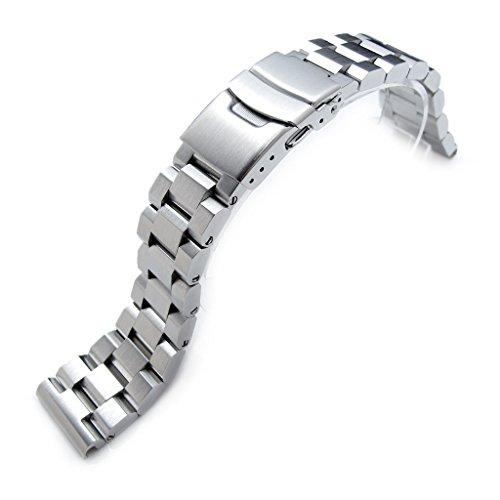 22mm-hexad-oyster-316l-edelstahl-armbanduhr-band-gerade-ende-lug-diver-schliee-gebrstet